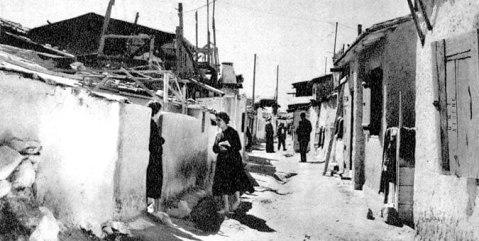 Τα προσφυγικά στο Δουργούτι ( σήμερα γειτονιά στον Ν. Κόσμο πίσω από το ξενοδοχείο Intercontinetal)